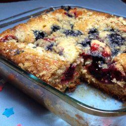 Berry Cheesecake Amish Friendship Bread by Paula Altenbach | friendshipbreadkitchen.com