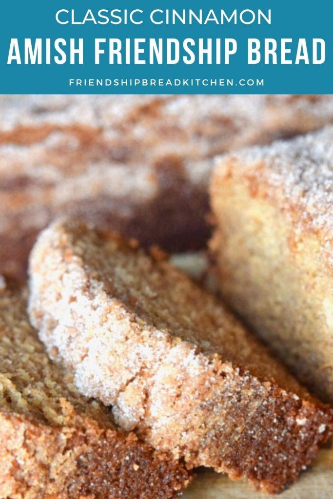 close-up of the original amish friendship bread recipe