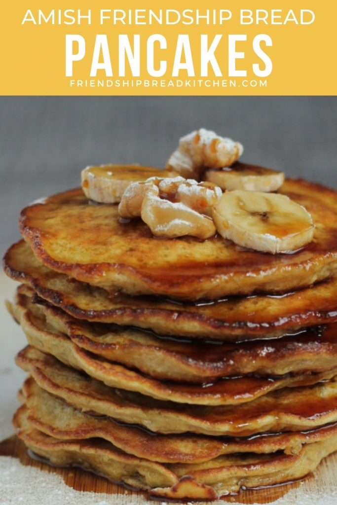 stack of pancakes with syrup on them
