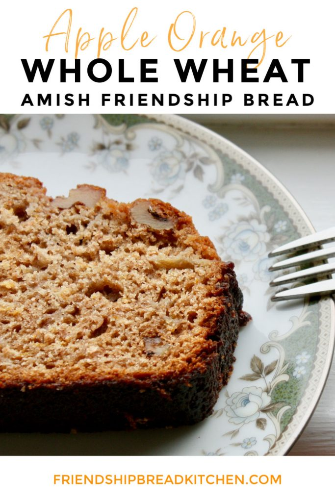 Apple Orange Whole Wheat Amish Friendship Bread