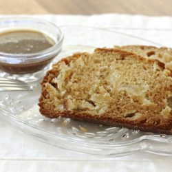 Apple Caramel Amish Friendship Bread | A warm and toasty fall Amish Friendship Bread treat. | www.friendshipbreadkitchen.com #amishfriendshipbread #friendshipbread #dessert #halloween