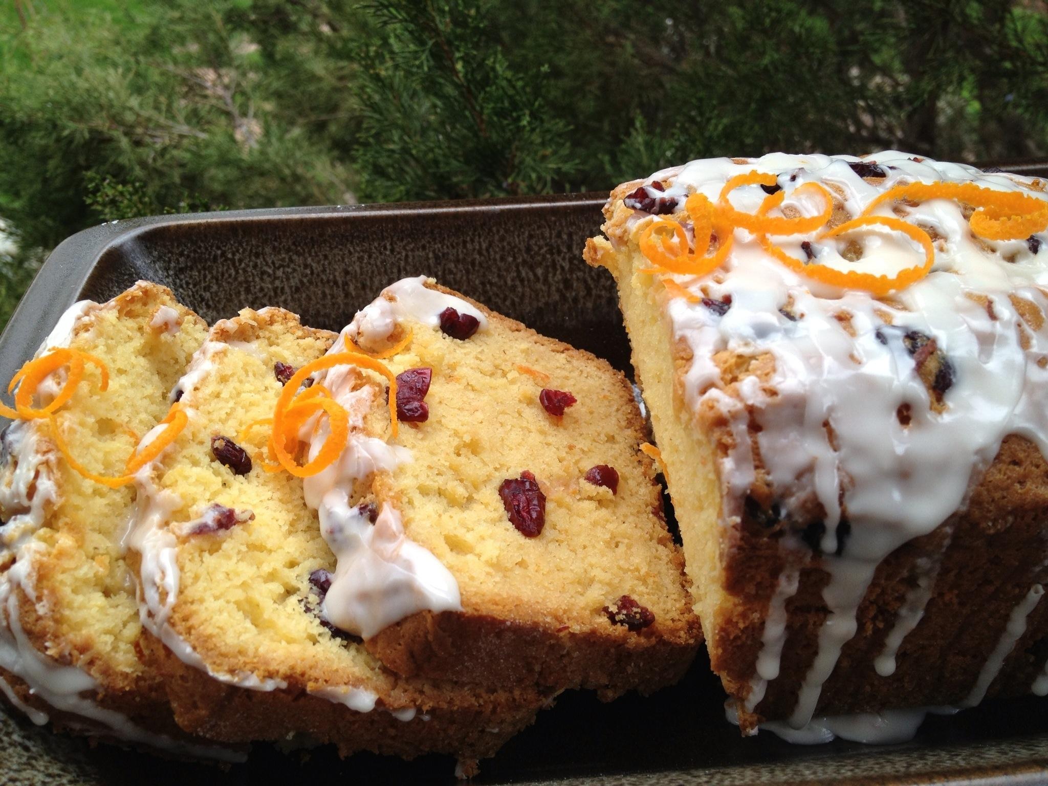 Cranberry Orange Amish Friendship Bread with Southern Comfort Glaze by Paula Altenbach | friendshipbreadkitchen.com