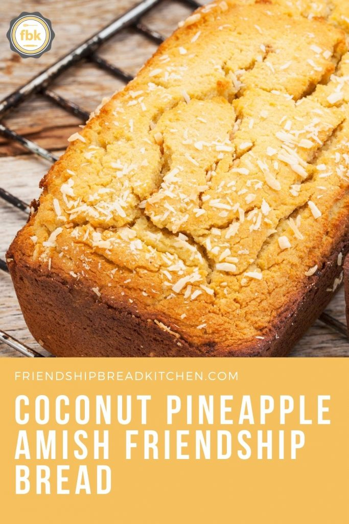 Coconut Pineapple Amish Friendship Bread Square