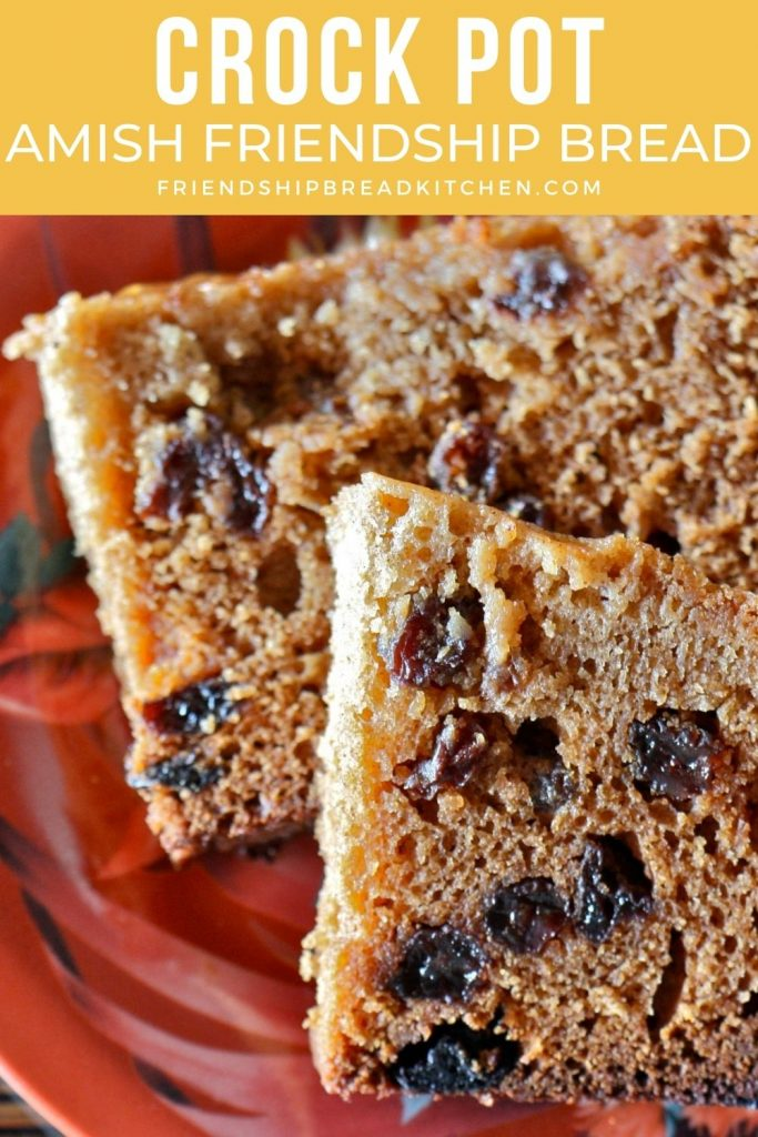 two pieces of crock pot amish friendship bread