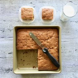 Sliced and ready to eat Amish Friendship Bread Blondies