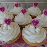Raspberry Cream-Filled Lemon Amish Friendship Bread Cupcakes