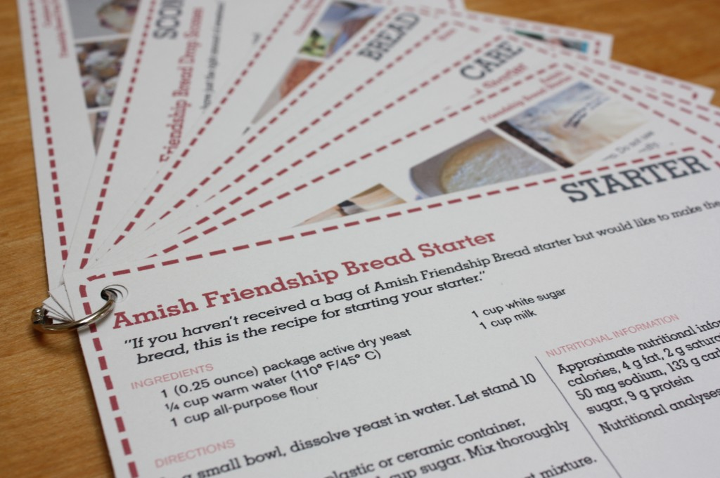 Amish Friendship Bread Gift Tags and Recipe Card Printables ♥ friendshipbreadkitchen.com