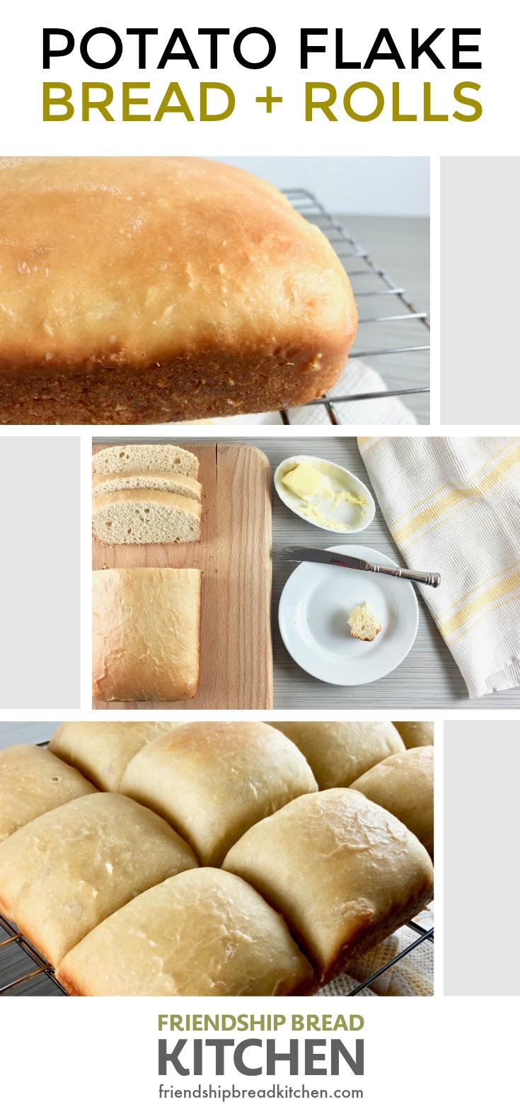 Potato Flake Amish Friendship Bread + Rolls | friendshipbreadkitchen.com