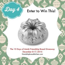 Day 4 of the 10 Days of Amish Friendship Bread Giveaway – Mix or Mash