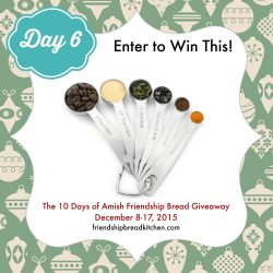 Day 6 of the 10 Days of Amish Friendship Bread Giveaway – Feed Your Starter