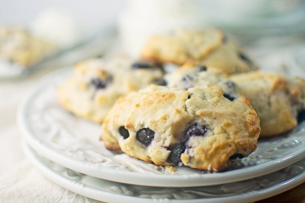 Blueberry Lemon Ricotta Amish Friendship Bread Scones by Stacey Doyle | friendshipbreadkitchen.com