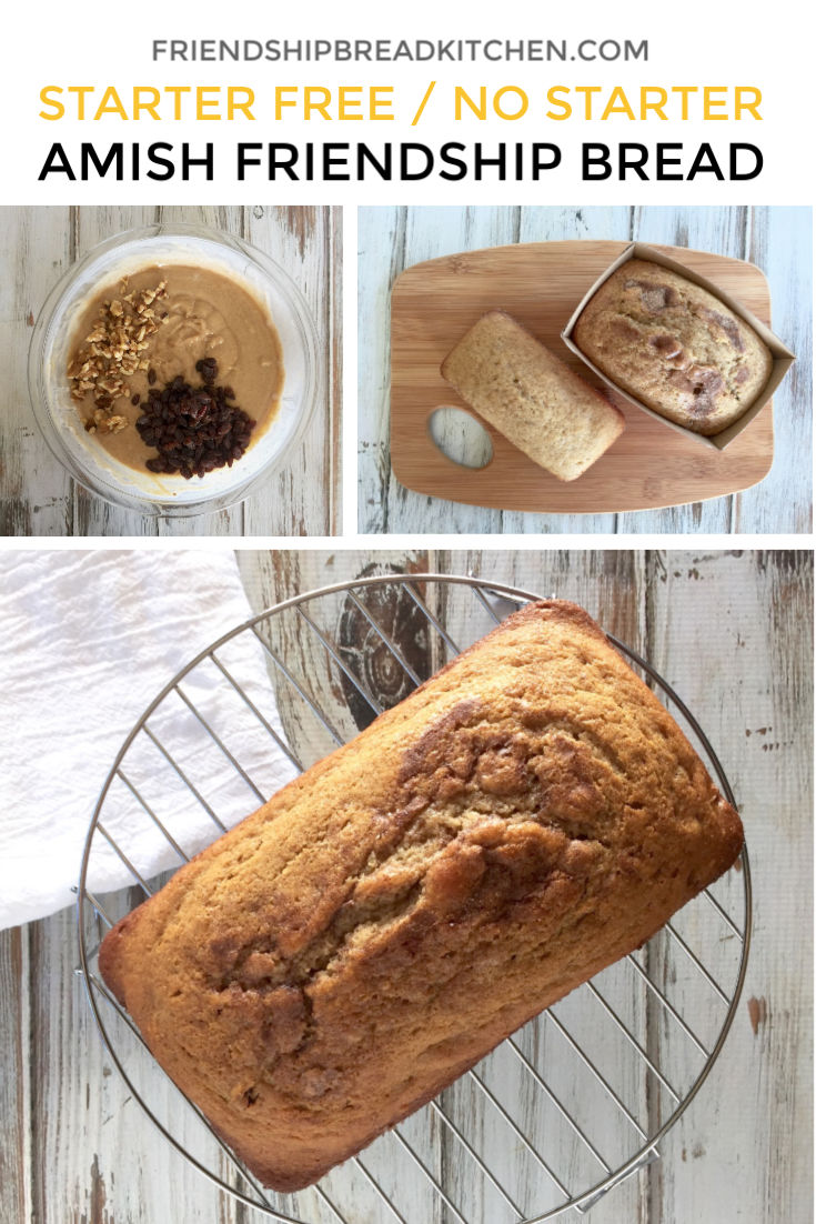 Amish Friendship Bread (No Starter / Starter Free)