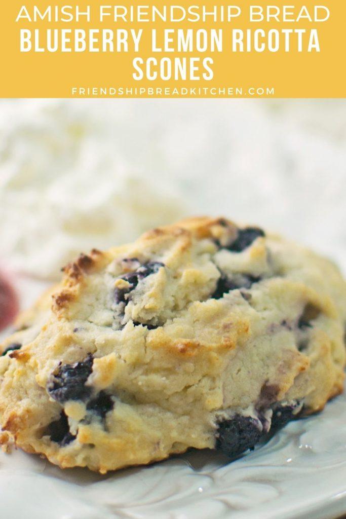 amish friendship bread blueberry lemon ricotta scone