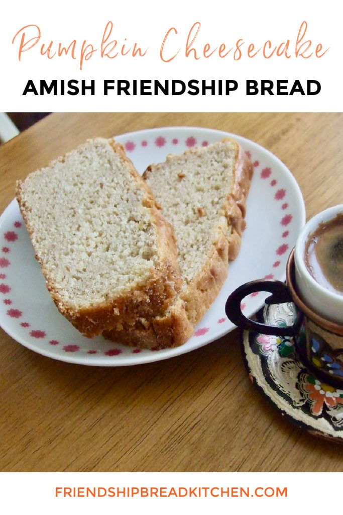 Pumpkin Cheesecake Amish Friendship Bread
