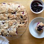 Amish Friendship Bread Blueberry Cream Biscuits