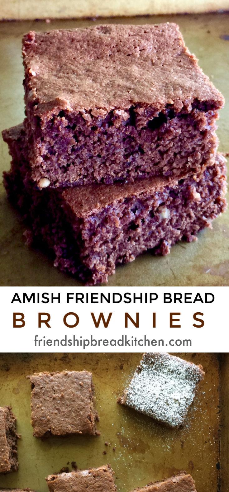 Amish Friendship Bread Brownies