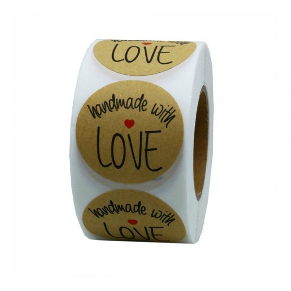 Round Handmade with Love Labels | friendshipbreadkitchen.com