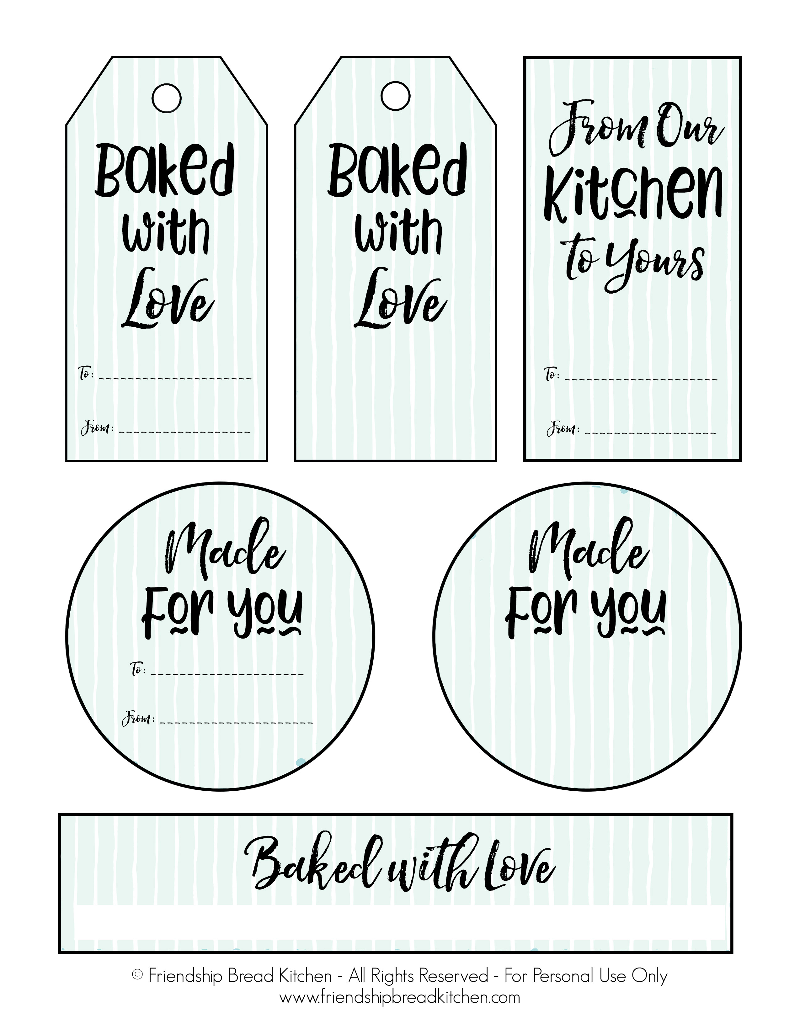 Printable Labels and Gift Tags