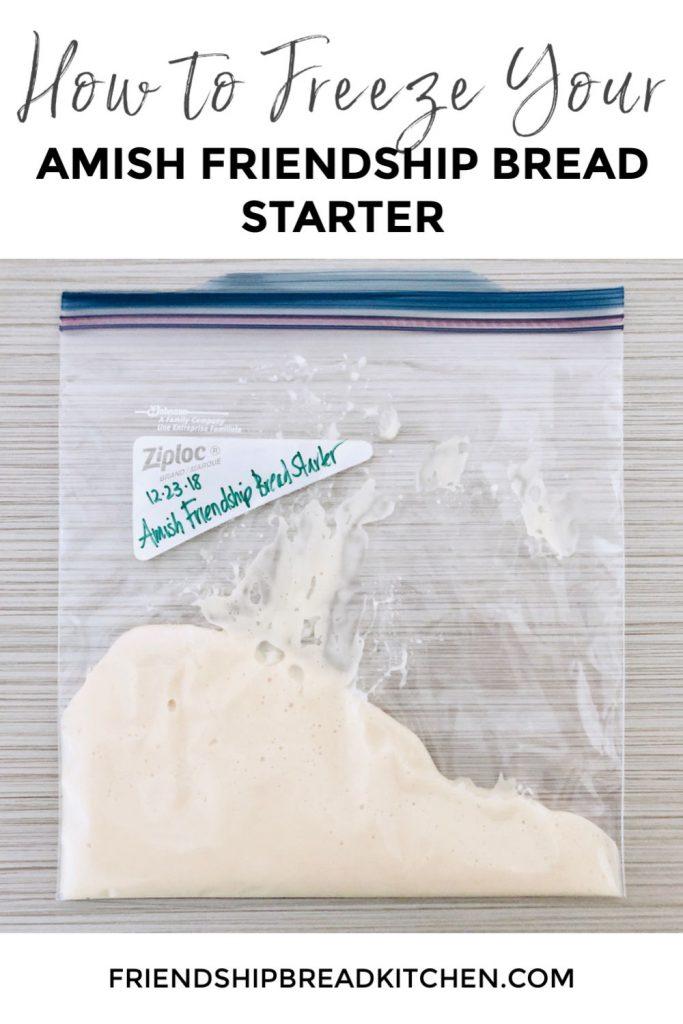 Freezing Amish Friendship Bread Starter