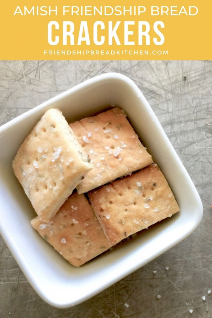 amish friendship bread crackers in a bowl