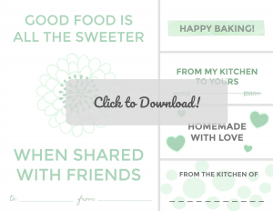 "Green Tag Homemade Baking Printable Find in ""Gift Tags, Labels, Matching Sets and Recipe Cards"""