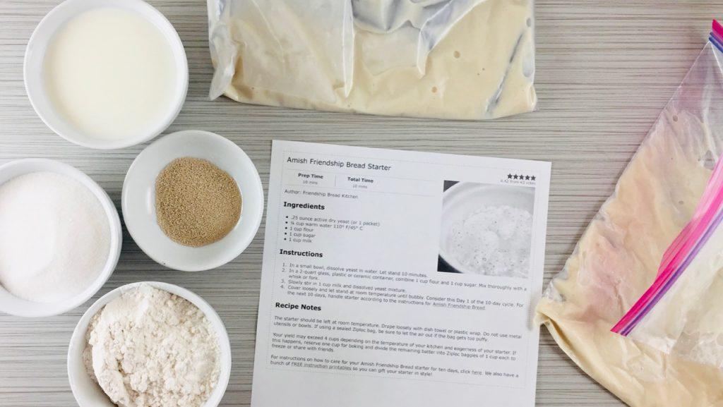 Make Your Amish Friendship Bread Starter From Scratch | friendshipbreadkitchen.com
