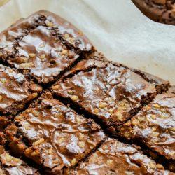 Chocolate Caramel Amish Friendship Bread Brownies