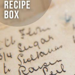 close-up of handwritten recipe