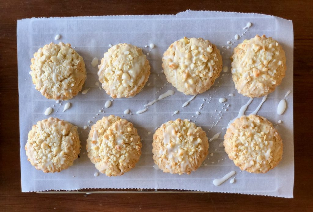 Pineapple Macadamia Nut Amish Friendship Bread Scones
