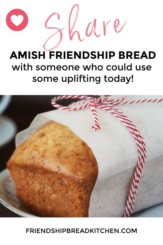 It's safe to share food and Amish Friendship Bread.
