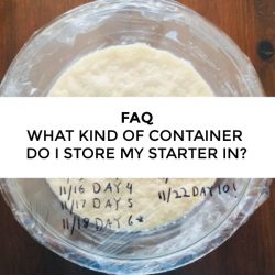 FAQ – What kind of container should I use to store my starter?
