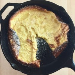 Easy Amish Friendship Bread Sourdough Dutch Baby