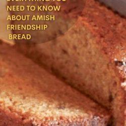 amish friendship bread close-up