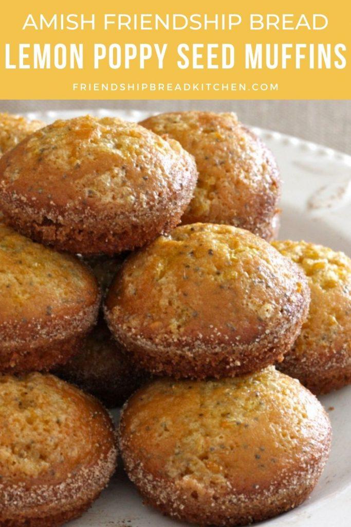 Lemon Poppy Seed Amish Friendship Bread Muffins